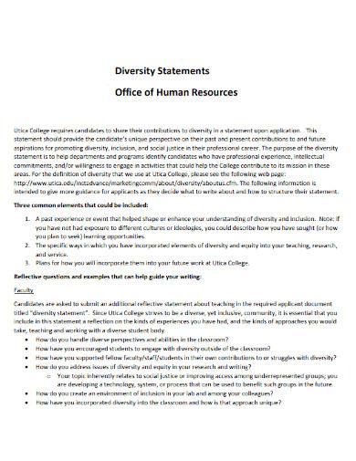 diversity statement of hr