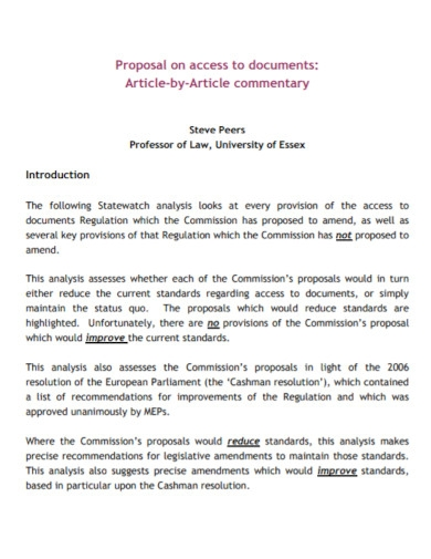 document article proposal