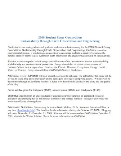 earth observation student essay