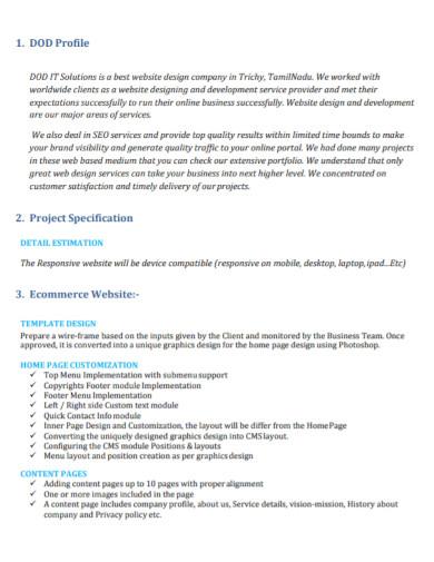 ecommerce website proposal