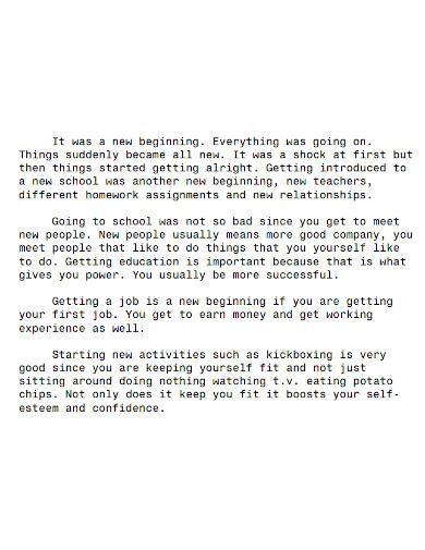 editable high school life essay