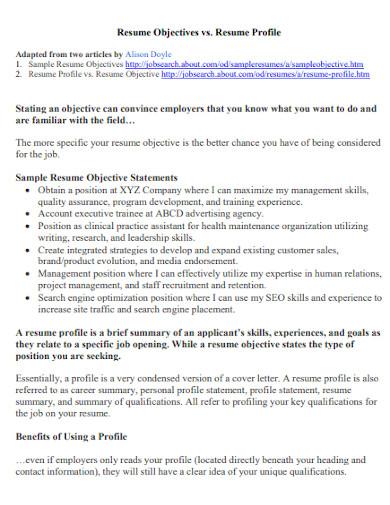 editable resume objective statement