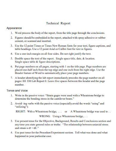 editable short technical report
