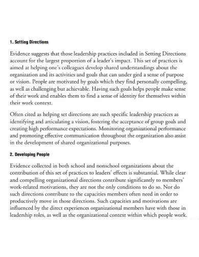 education leadership goals for students