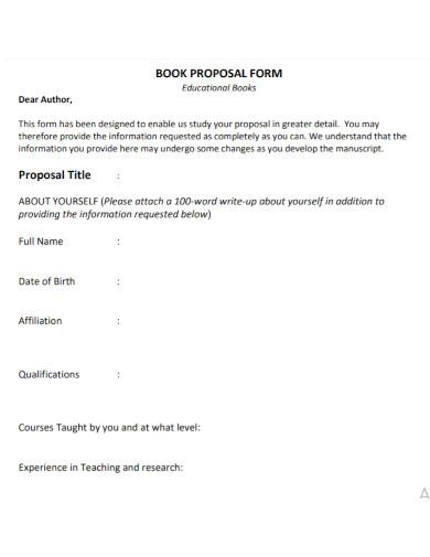 educational book proposal