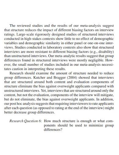 employment narrative interview report