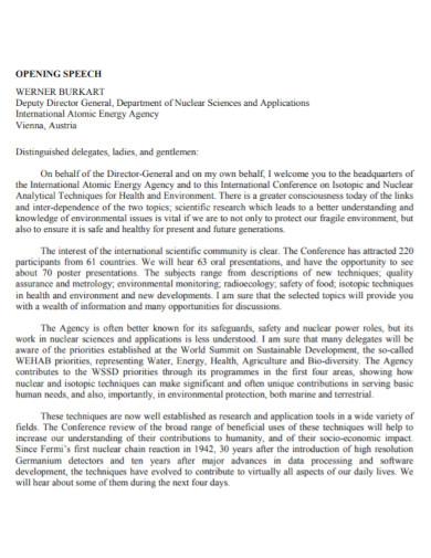 energy agency opening speech