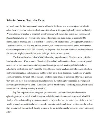essay on observation theme