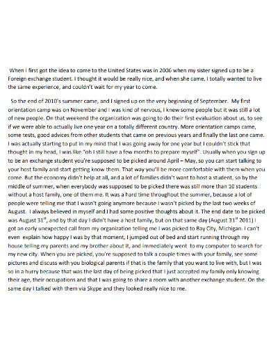experience of life essay