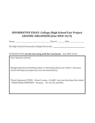 fair project informative essay for high school