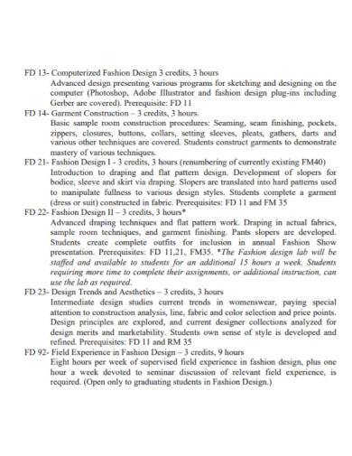 fashion design proposal template