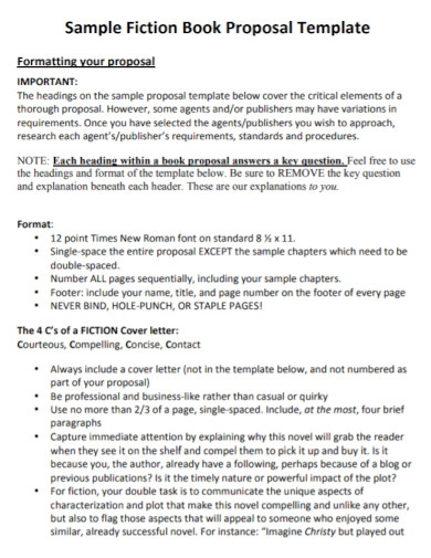 fiction book proposal template