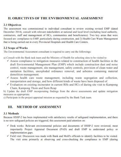 field assessment report