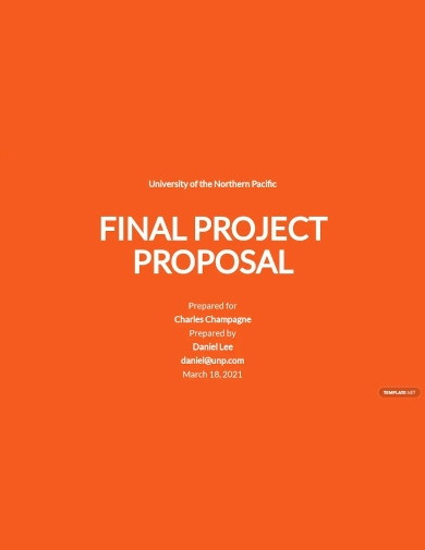 final project proposal templates
