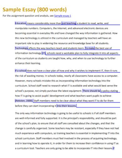formal descriptive essay for university