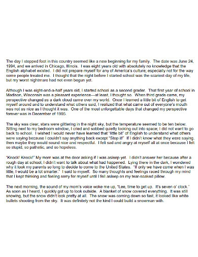 formal high school life essay
