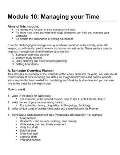 general time management essay