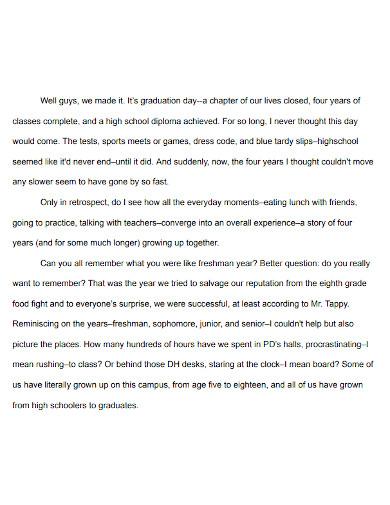 graduation school thank you speech