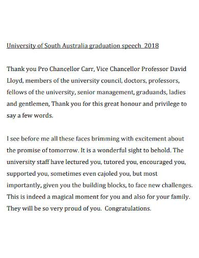 graduation thank you speech format