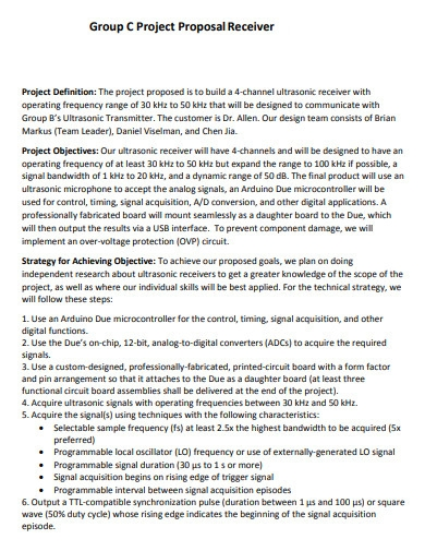 group project proposal receiver