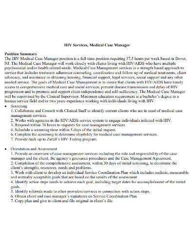 hiv medical case summary