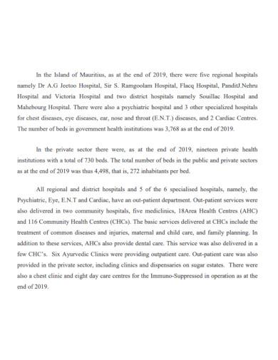 health statistics report