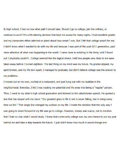 high school life essay format