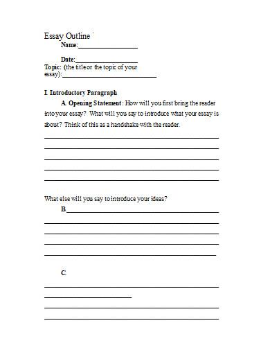 informative essay outline in doc
