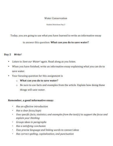 informative essay for high school template