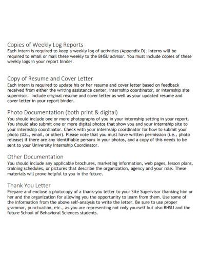 internship weekly log reports
