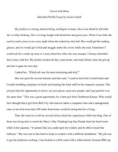 interview profile essay