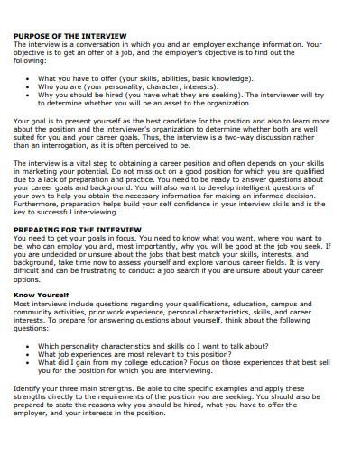 job interview essay template