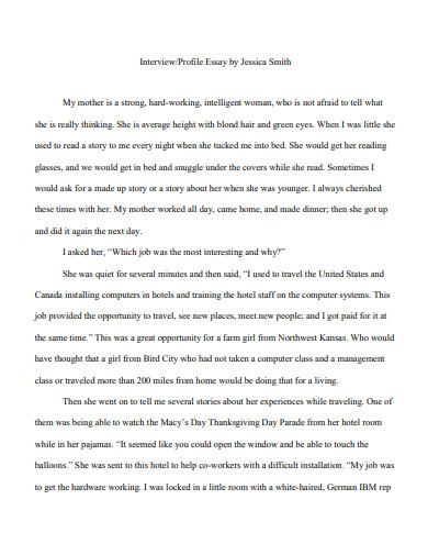 job interview essay in pdf
