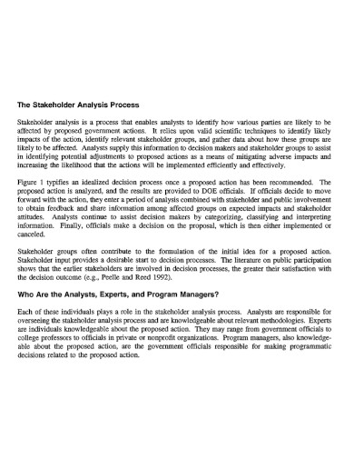 laboratory stakeholder analysis