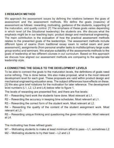 leadership assessment goals for students