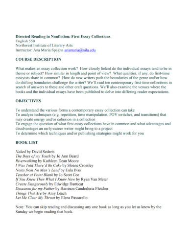 literary arts nonfiction essay