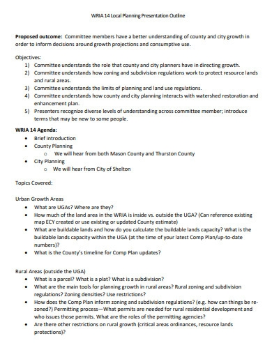 local planning presentation outline