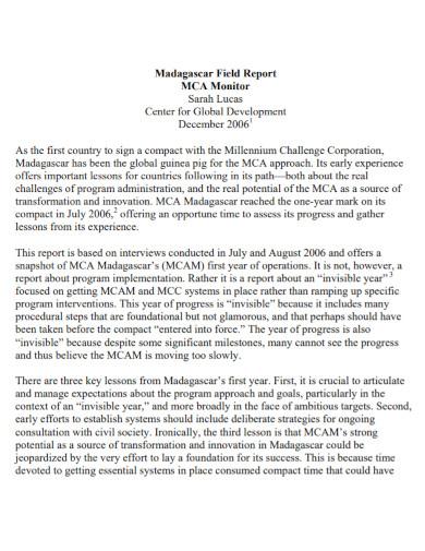 madagascar field report