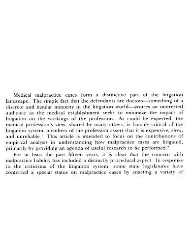medical malpractice case summary