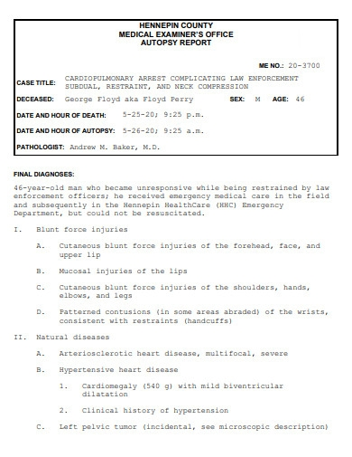medical office autopsy report