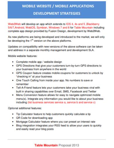 mobile app development strategies proposal