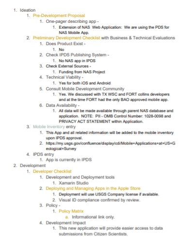 mobile app pre development proposal