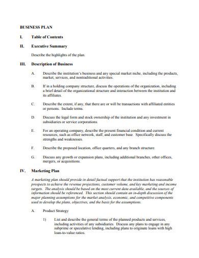 mortgage broker business plan in pdf
