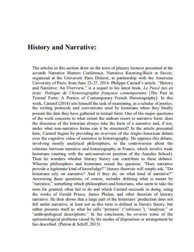 narrative history partnership essay