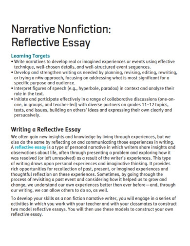 narrative nonfiction reflective essay