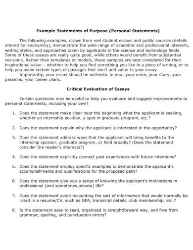 new university personal statement