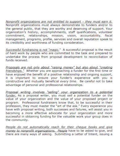 non profit organization proposal