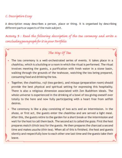 nonfiction descriptive essay