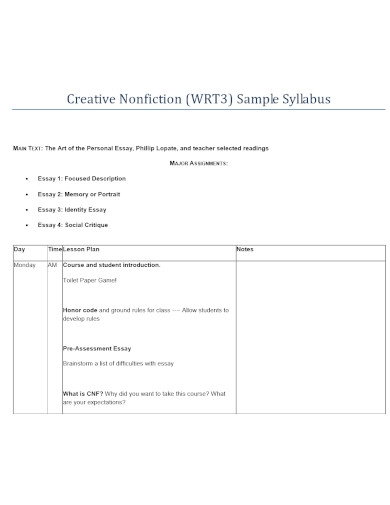 nonfiction essay templates