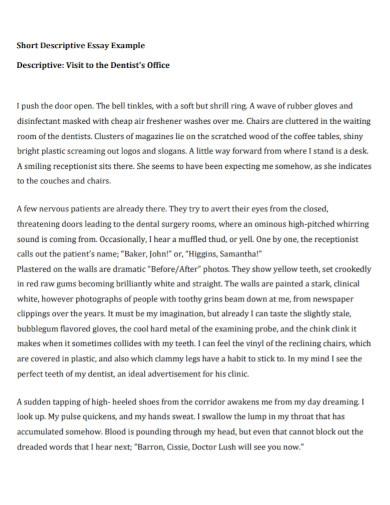 office short descriptive essay